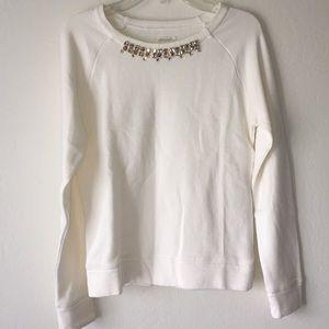 Crewcuts girls jewel neck terry sweatshirt 12